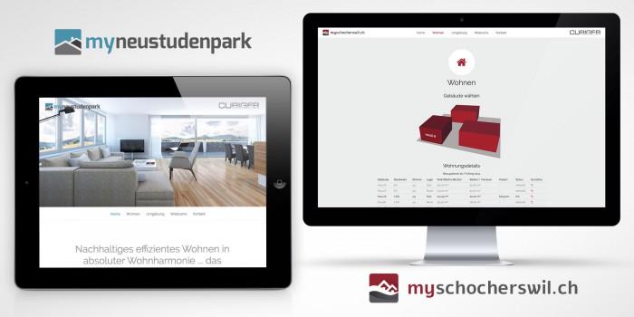 Curiger Immobilien Webdesign