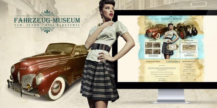 Fahrzeugmuseum Webdesign