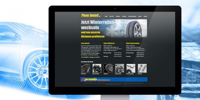 Pneu Junod Webdesign